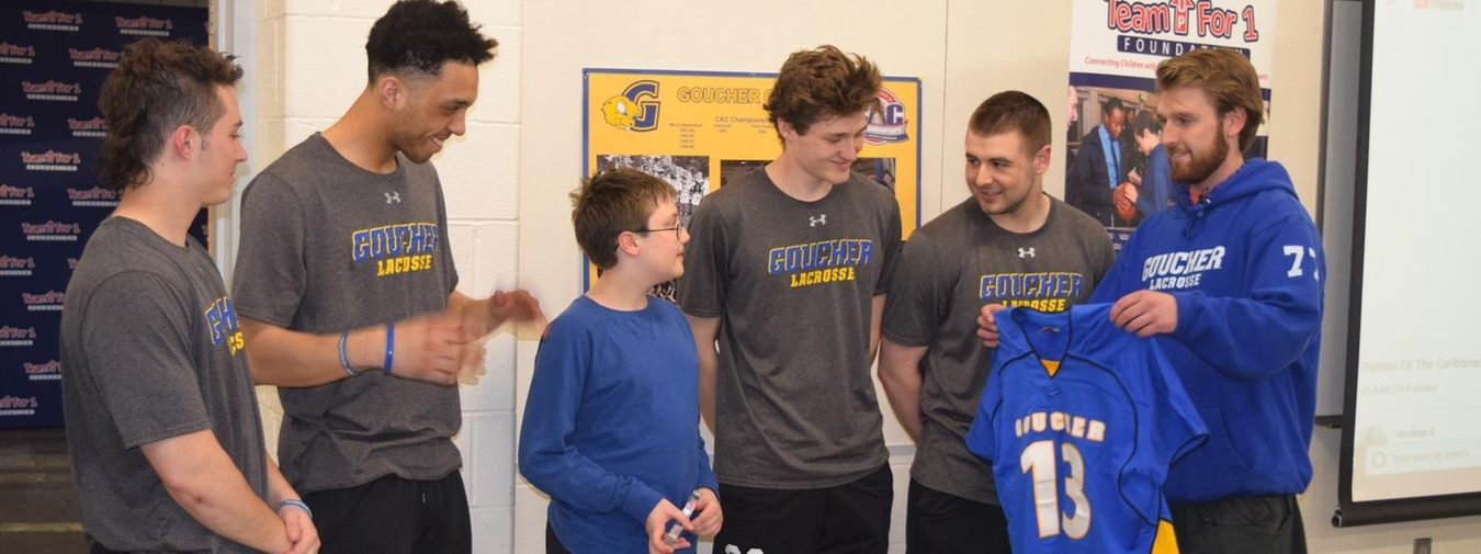 Goucher Men's Lacrosse Adopts Max Through The Team Up For 1 Organization