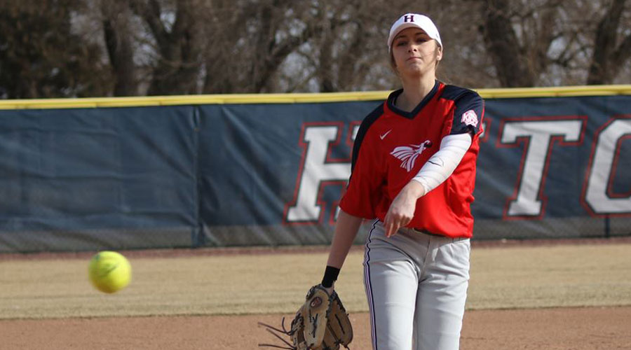 D.J. Cannon struck out seven batters in three perfect innings of Hutch's 28-6 win on Tuesday over the Bethel JV in Newton (Joel Powers/Blue Dragon Sports Information)