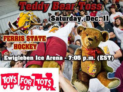 Bulldogs To Hold Teddy Bear Toss At This Saturday's Hockey Game