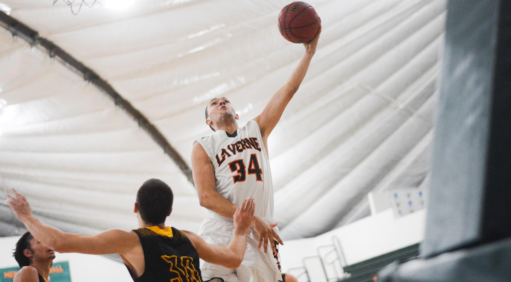 Men's Basketball falls at Chapman, 76-67