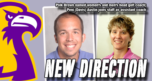 Polk Brown named men's and women's golf head coach, Peni Austin new assistant