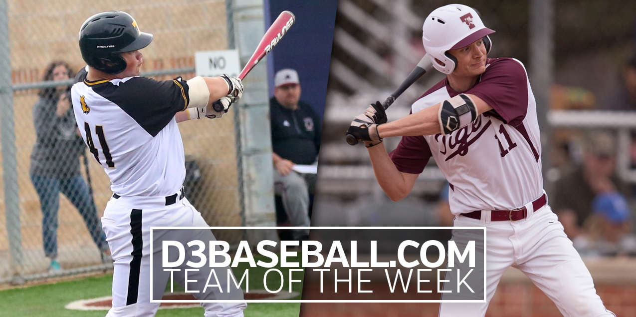 Texas Lutheran's Brandt, Trinity's Martin Named to D3baseball.com Team of the Week