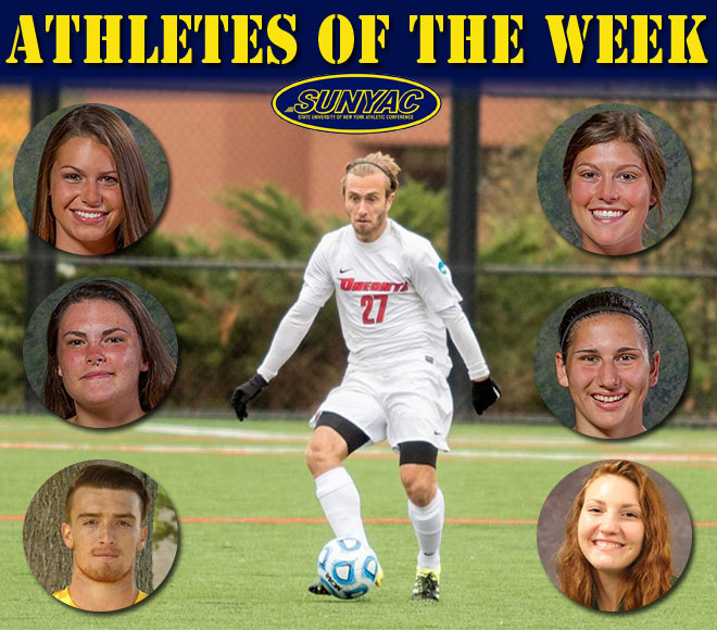 SUNYAC releases athletes of the week for soccer, field hockey and volleyball
