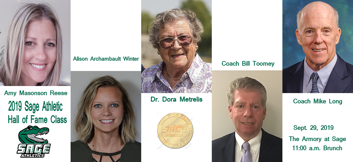 Sage announces 2019 Athletic Hall of Fame Class; Ceremony slated for Sept. 29