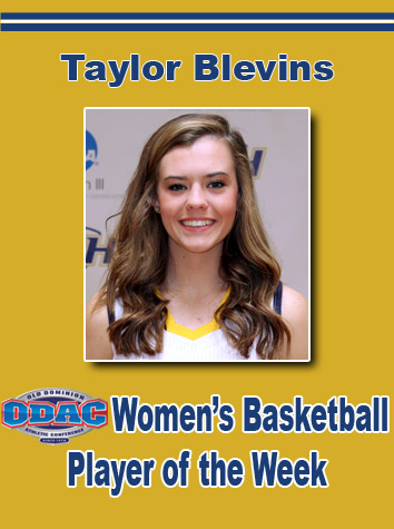 Emory & Henry's Taylor Blevins Named ODAC Women's Basketball Player Of The Week