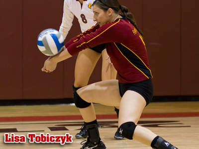 Lisa Tobiczyk will take part in the 2011 USA Volleyball Open Tryouts in late February.  (Photo by Ben Amato)