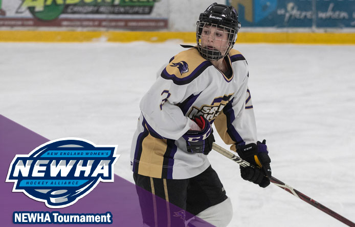 Women's Ice Hockey Finishes Season With NEWHA Semifinal Loss to Saint Anselm