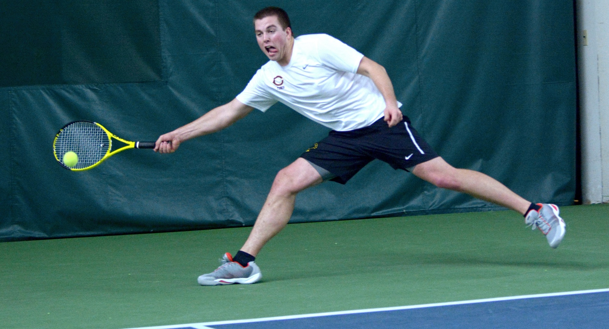 Junior Isaac Toivonen won both his singles and doubles matches in the Cobbers' match against Carleton.