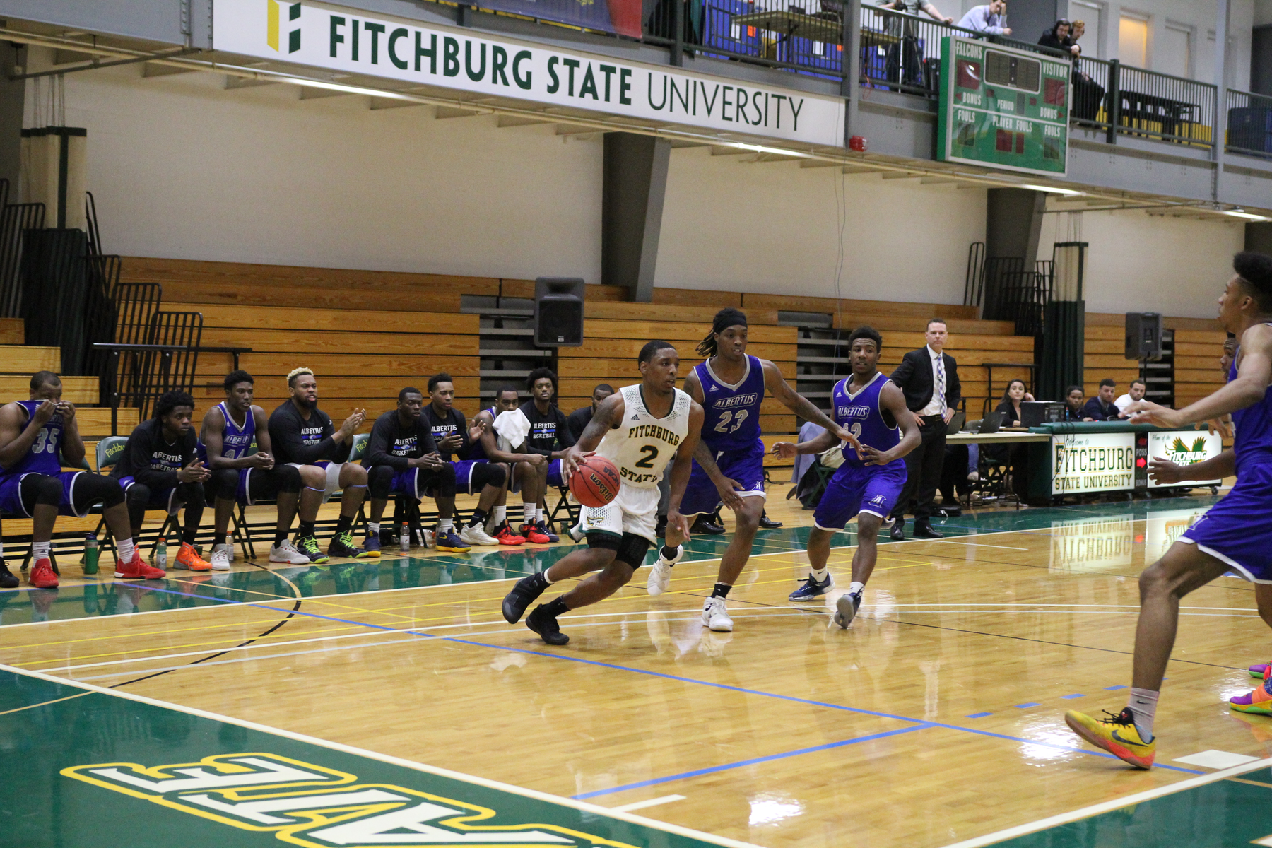 Fitchburg State Claws Past MCLA, 101-66