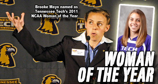 Brooke Mayo chosen as Tennessee Tech's 2011 NCAA Woman of the Year