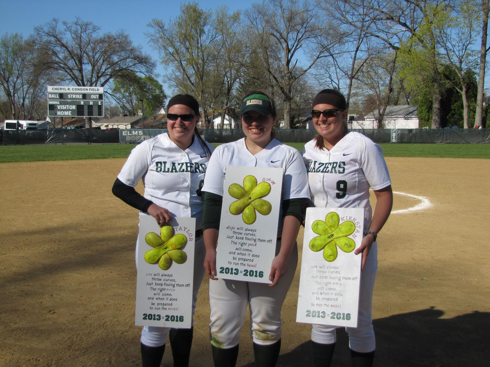 Softball Splits With Lesley On Senior Day