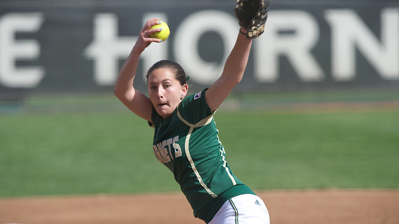 HARTMAN'S GEM LEADS SOFTBALL TO DOUBLEHEADER SPLIT WITH NORTHERN COLORADO