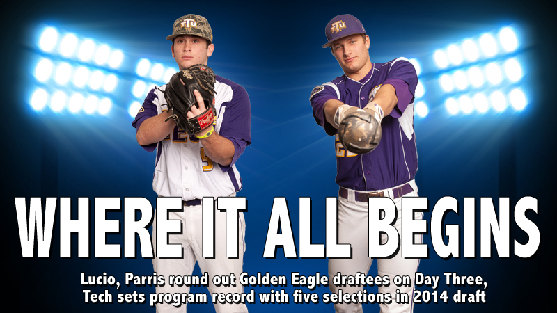 Lucio, Parris give Golden Eagles school record five selections in 2014 MLB Draft