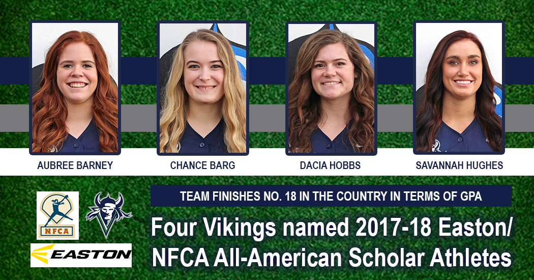As a team, Big Bend's student-athletes finished the year with a combined 3.390-grade point average which ranked No. 18 in the entire country. Individually, Chance Barg (3.910), Aubree Barney (3.630), Dacia Hobbs (3.840), and Savannah Hughes (3.880)were named 2017-18 Easton/NFCA All-American Scholar-Athletes.