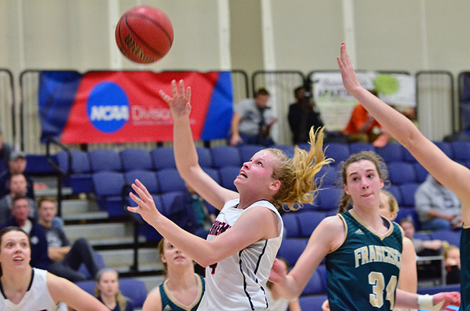 Boyer Helps Women's Basketball Collect First AMCC Win
