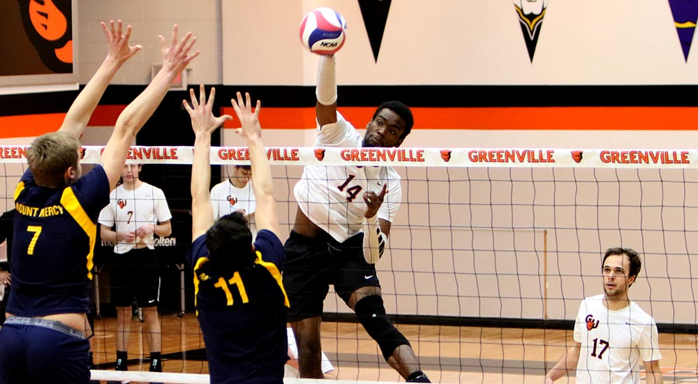 Men's volleyball wins MCVL opener