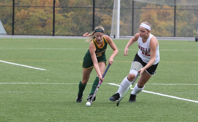 Taylor Lessard (5) scored for Keuka College on Saturday -- Photo by Ed Webber