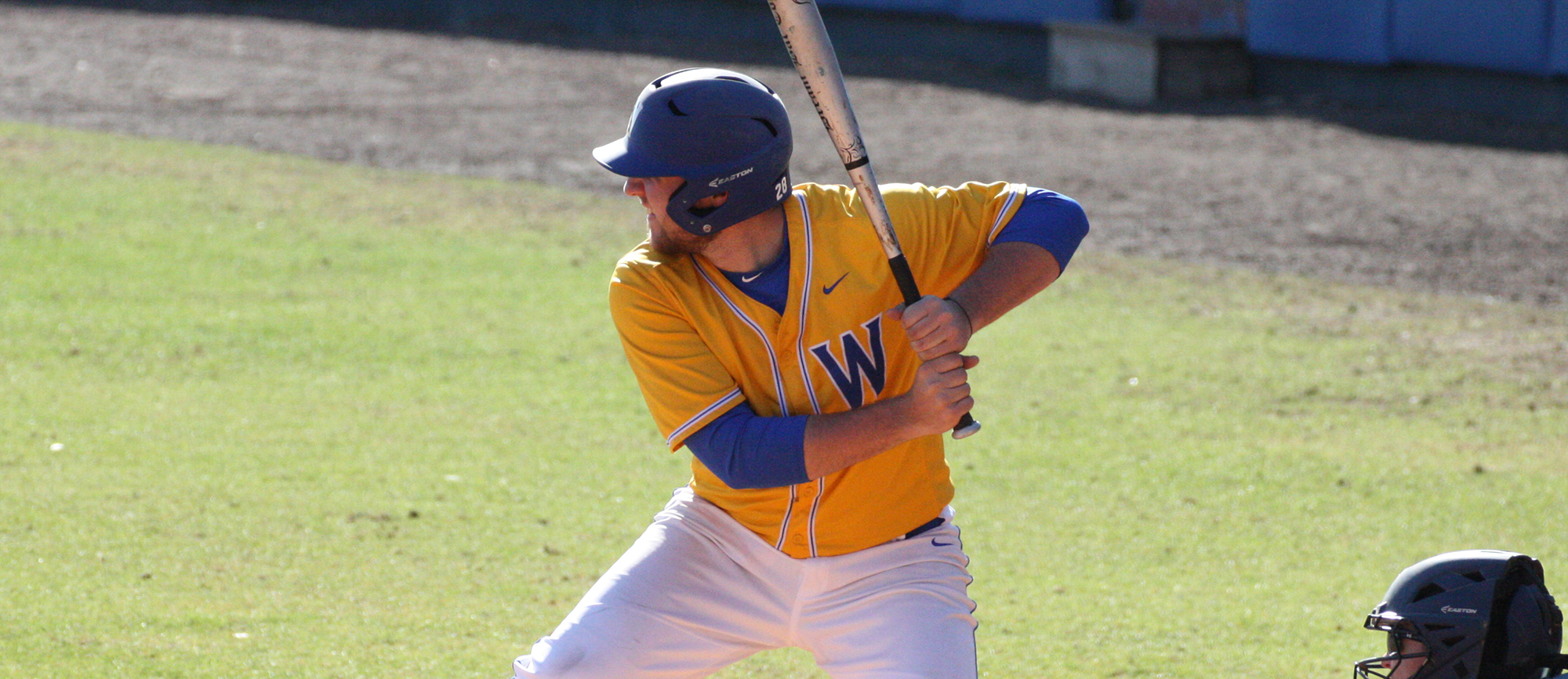 Sophomore Zac Nussbaum hit a grand slam in game two of Western New England's CCC-opening sweep over Eastern Nazarene on Thursday. (Photo by Jeff Rosenblatt)