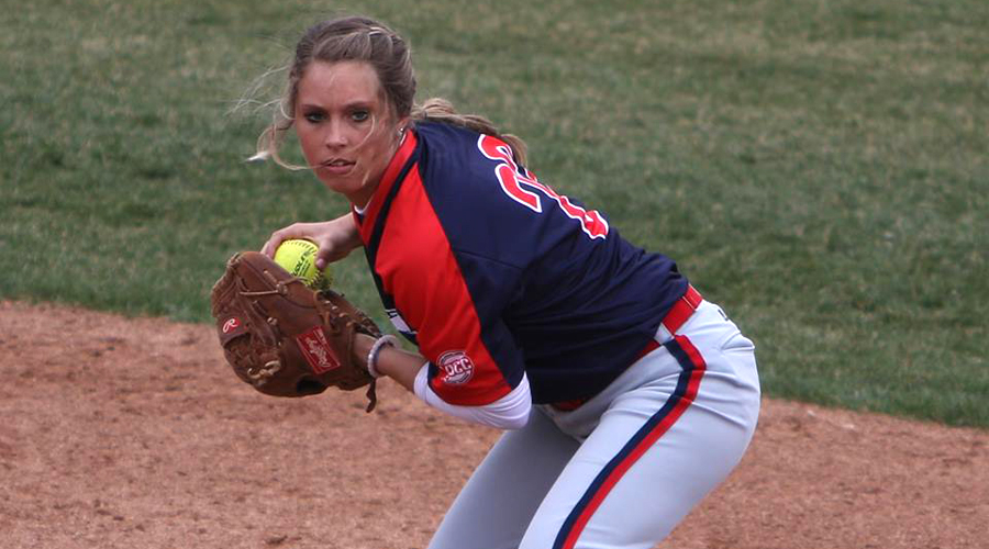 Bre Johnson had four RBIs in a pair of run-rule victories over the Tabor College Junior Varsity on Wednesday at Fun Valley. (Joel Powers/Blue Dragon Sports Information)