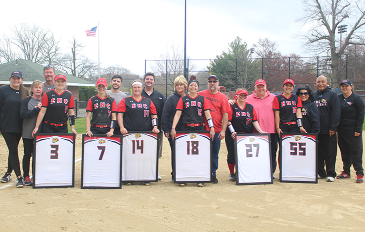 League-Leading Softball Sweeps Mitchell on Senior Day