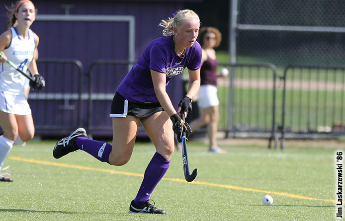 Johnston Scores Four Goals, Field Hockey Defeats New Haven