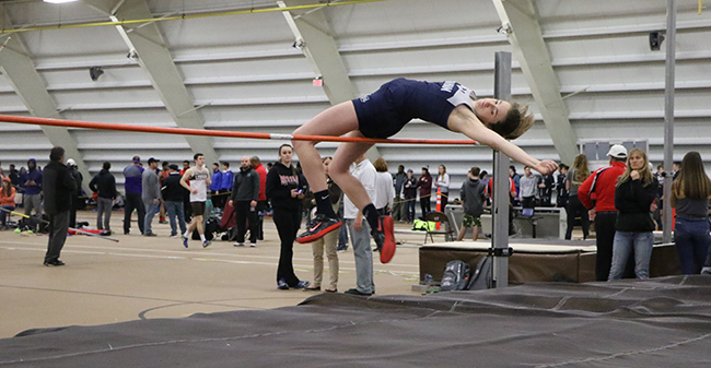 Cassie Cronk in the high jump.