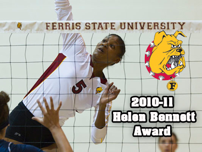 Arielle Goodson bestowed with FSU's Helen Bennett Award for her outstanding athletic and academic performance.