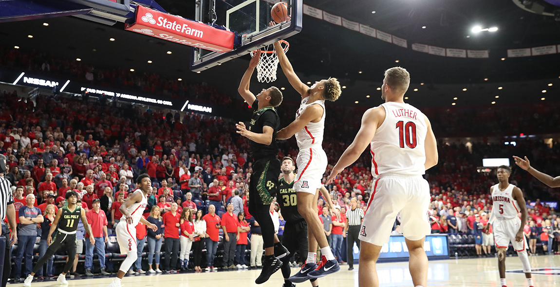 Arizona Pulls Away from Cal Poly in Second Half of Sunday Matchup