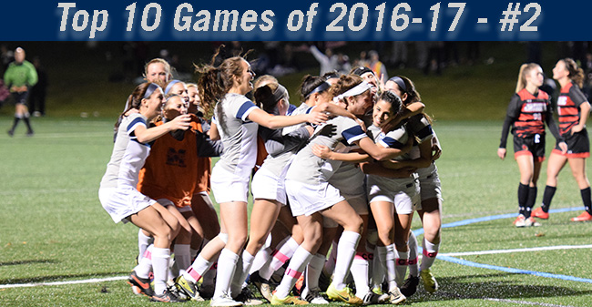 Top 10 Games of 2016-17 - #2 Women's Soccer Tops Catholic in Double OT in Landmark Semifinals