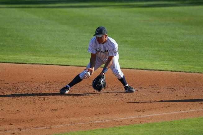 File Photo: Michael Gonzalez reached base three times for the Falcons