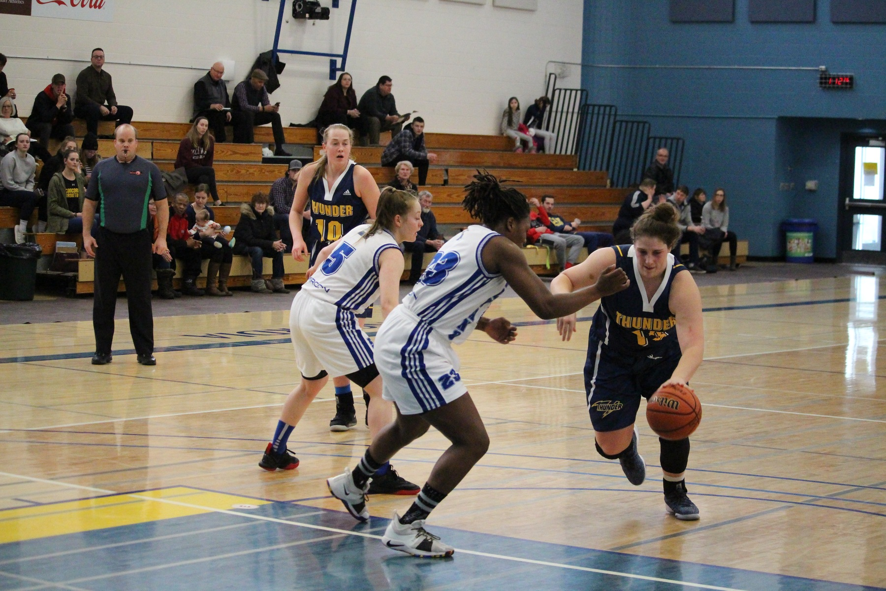 Thunder keep playoff hopes alive with big win over Huskies