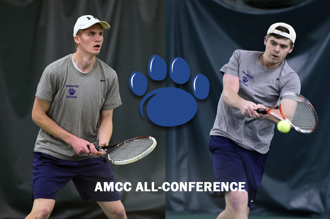 Tuttle, May Named to All-AMCC Men's Tennis Team