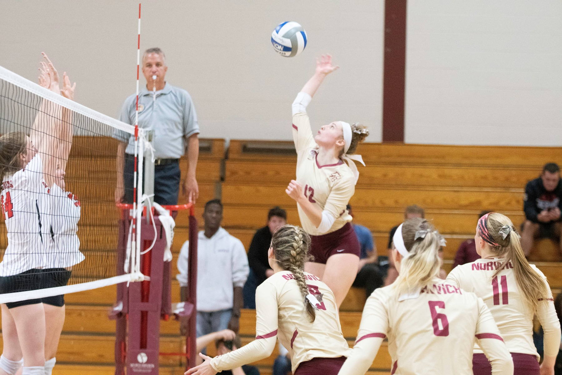 Volleyball: Cadets split GNAC tri-match, defeat St. Joseph (Conn.) 3-2