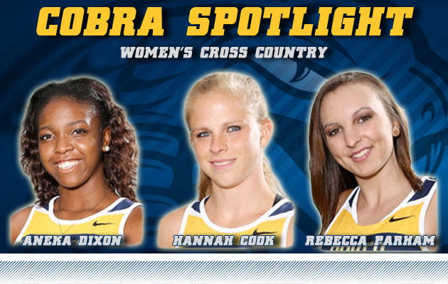 Cobra Spotlight- Aneka Dixon, Hannah Cook & Rebecca Parham, Women's Cross Country