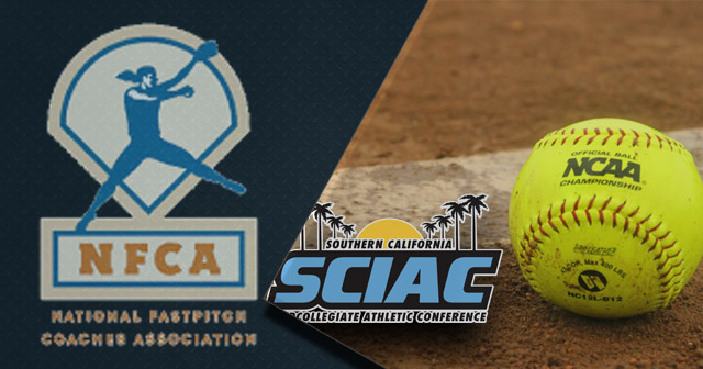 Seven SCIAC Softball Players Honored by NFCA