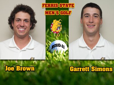 Brown and Simons Chosen As 2010-11 Men's Golf Captains