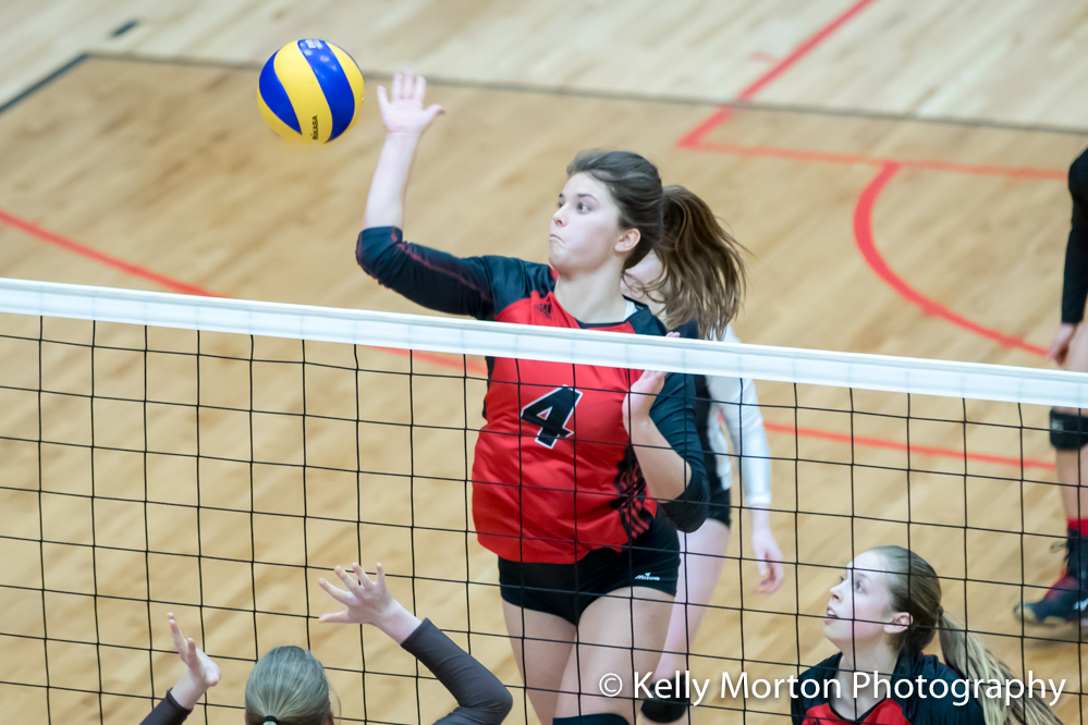 Middle blocker Taylor Boughton was named the Wesmen player of the game.