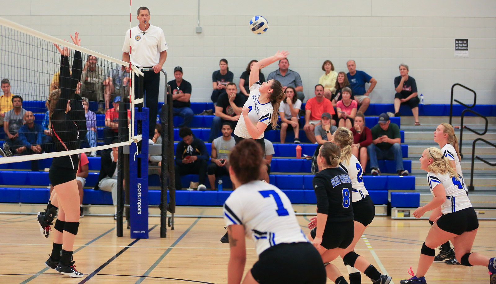 The Blue Knights Volleyball Team Goes 0-2 on the road