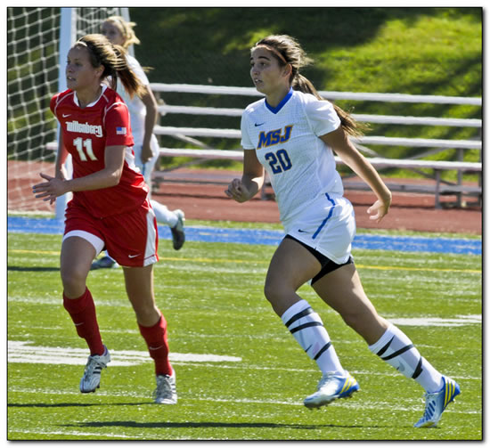 Mount women's soccer posts first win of the 2014 season