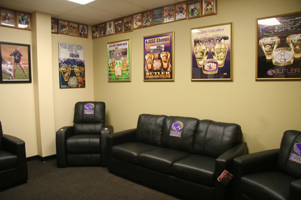 The Den/Player's Lounge inside the Criss Football Complex