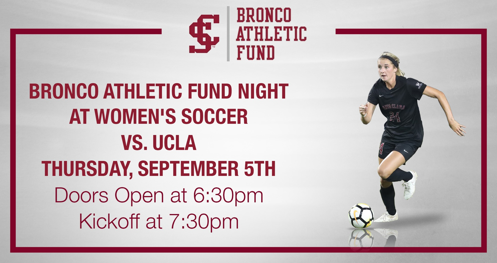 Registration Open for Bronco Athletic Fund Night at Women's Soccer