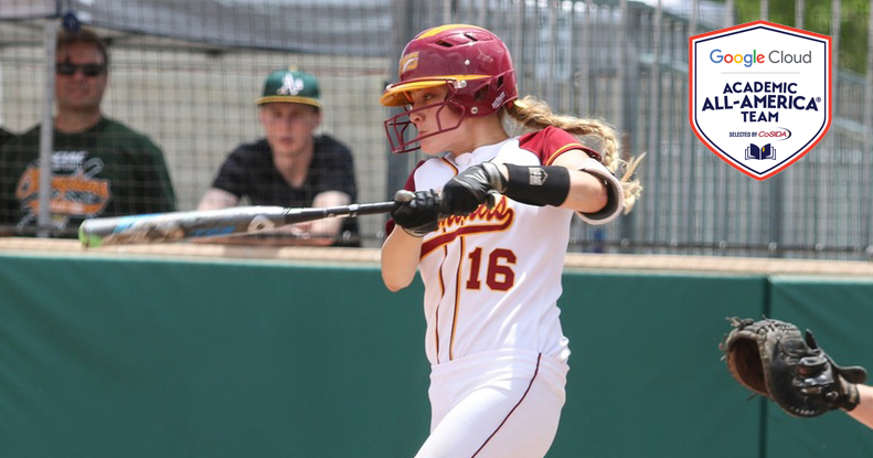 Halle of CMS Named Google Cloud Academic All-American in Softball