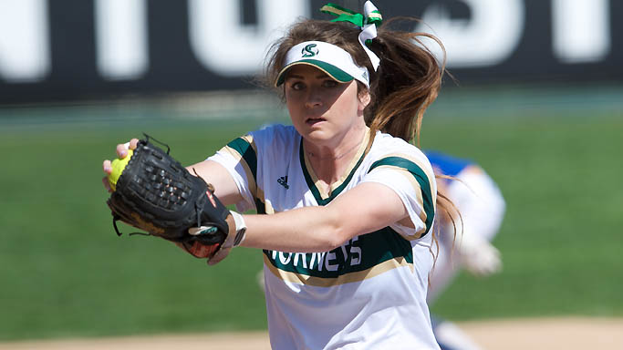SOFTBALL COMPLETES 3-GAME SWEEP OF NORTH DAKOTA WITH 9-0 WIN