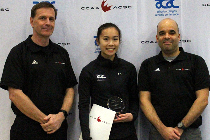 Wang named CCAA Female Badminton Player of the Year