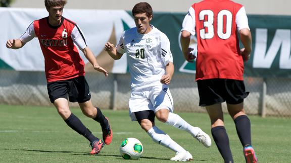 MEN'S SOCCER EXHIBITION AT PACIFIC SATURDAY; PICKED 4TH IN ...