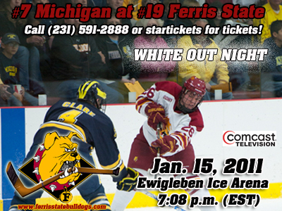 #19 Ferris State and #7 Michigan Square Off This Weekend In A Key CCHA Series