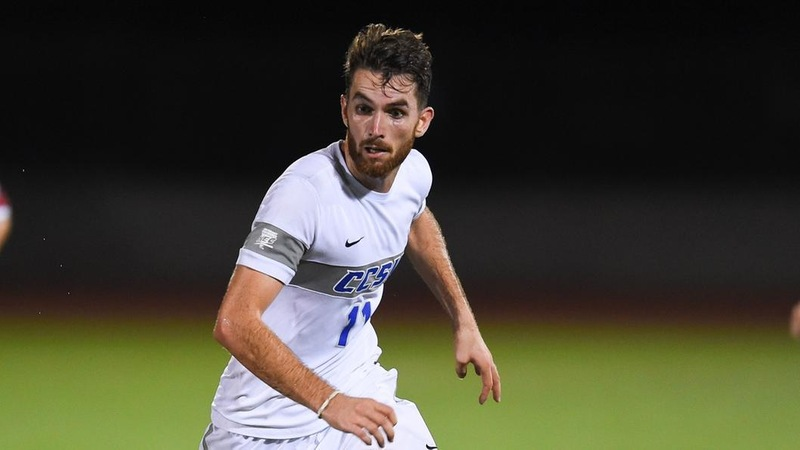 Beddouri Scores Twice for Men's Soccer at UMass on Saturday