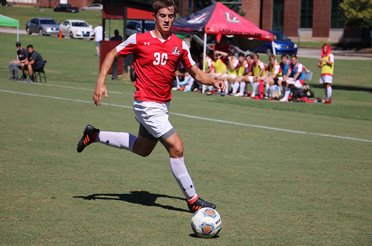 Men's Soccer: Panthers clinch berth in USA South tournament with 2-1 win over Averett