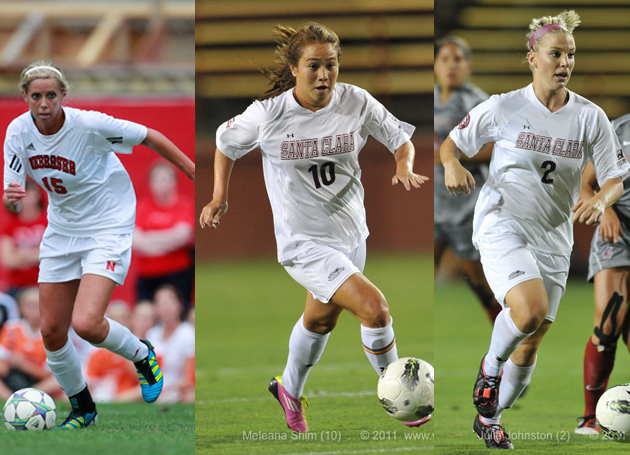 Three Women's Soccer Players Square Off at National Camp