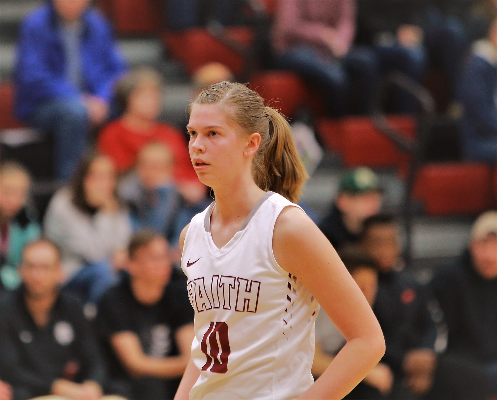 Faith Eagles sophomore Bekah Smith led the team with 10 rebounds in a loss to Ozark Christian